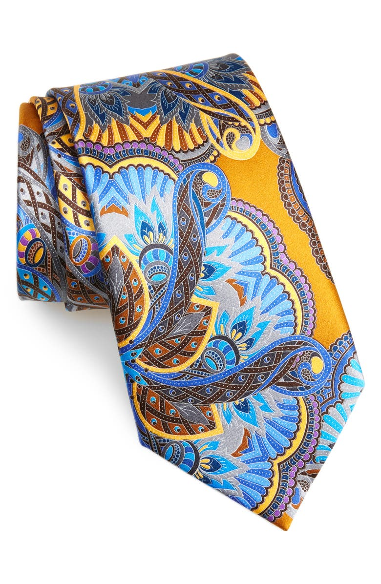 ERMENEGILDO ZEGNA Quindici Silk Tie, Main, color, NAVY