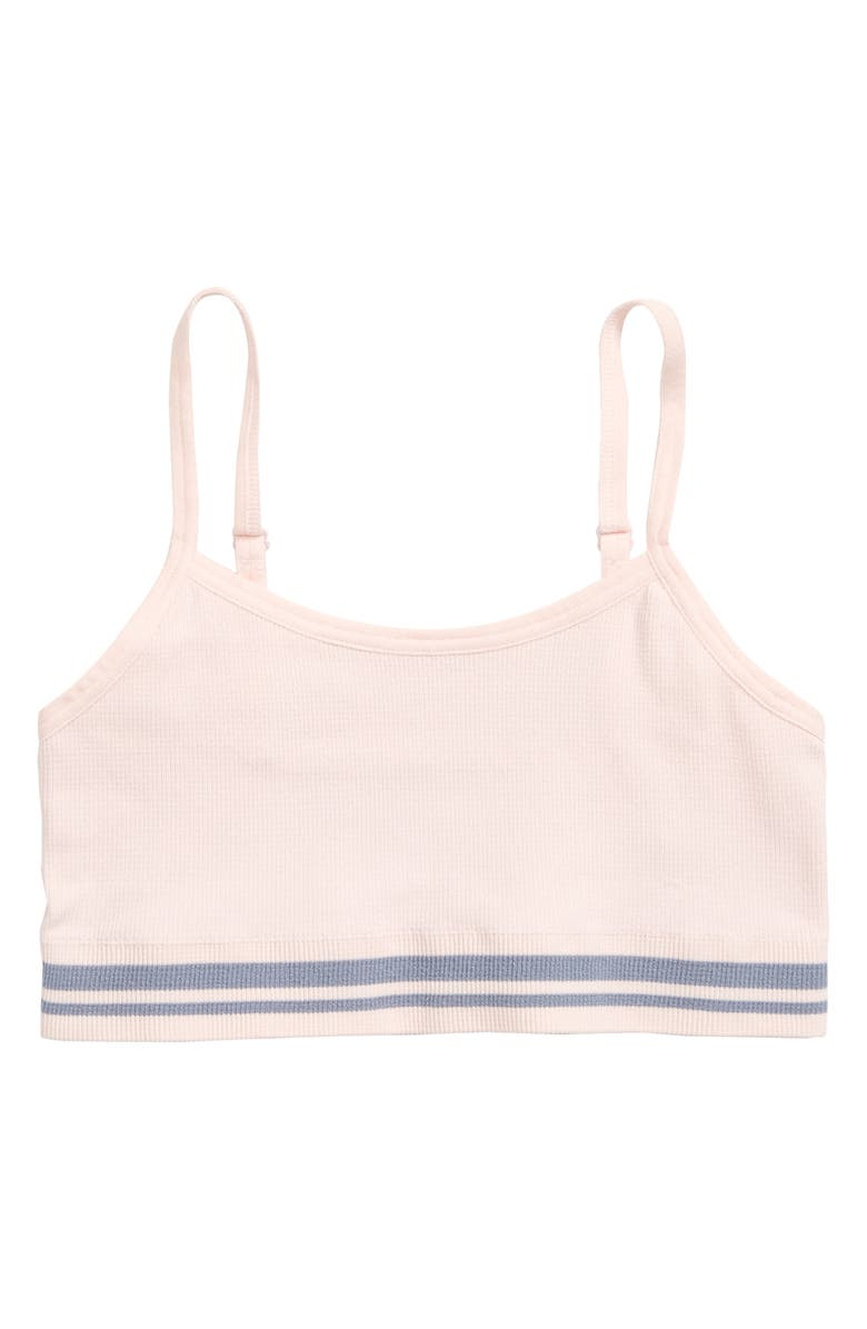TUCKER + TATE Ribbed Seamless Bralette, Main, color, PINK CRYSTAL