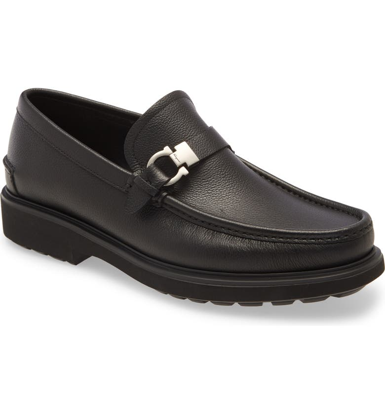 SALVATORE FERRAGAMO Ralph Bit Loafer, Main, color, NERO