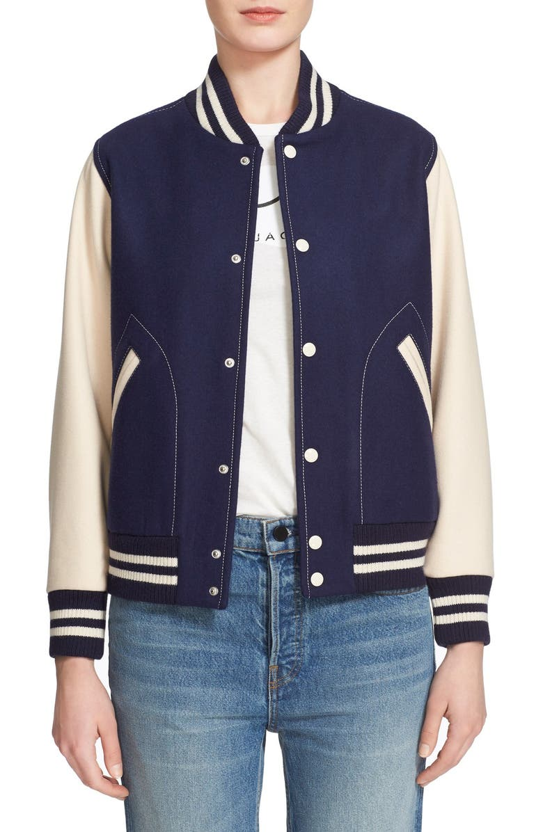 Marc Jacobs Shrunken Varsity Jacket Nordstrom