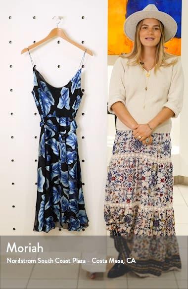Nan Floral Drape Detail Midi Dress, sales video thumbnail