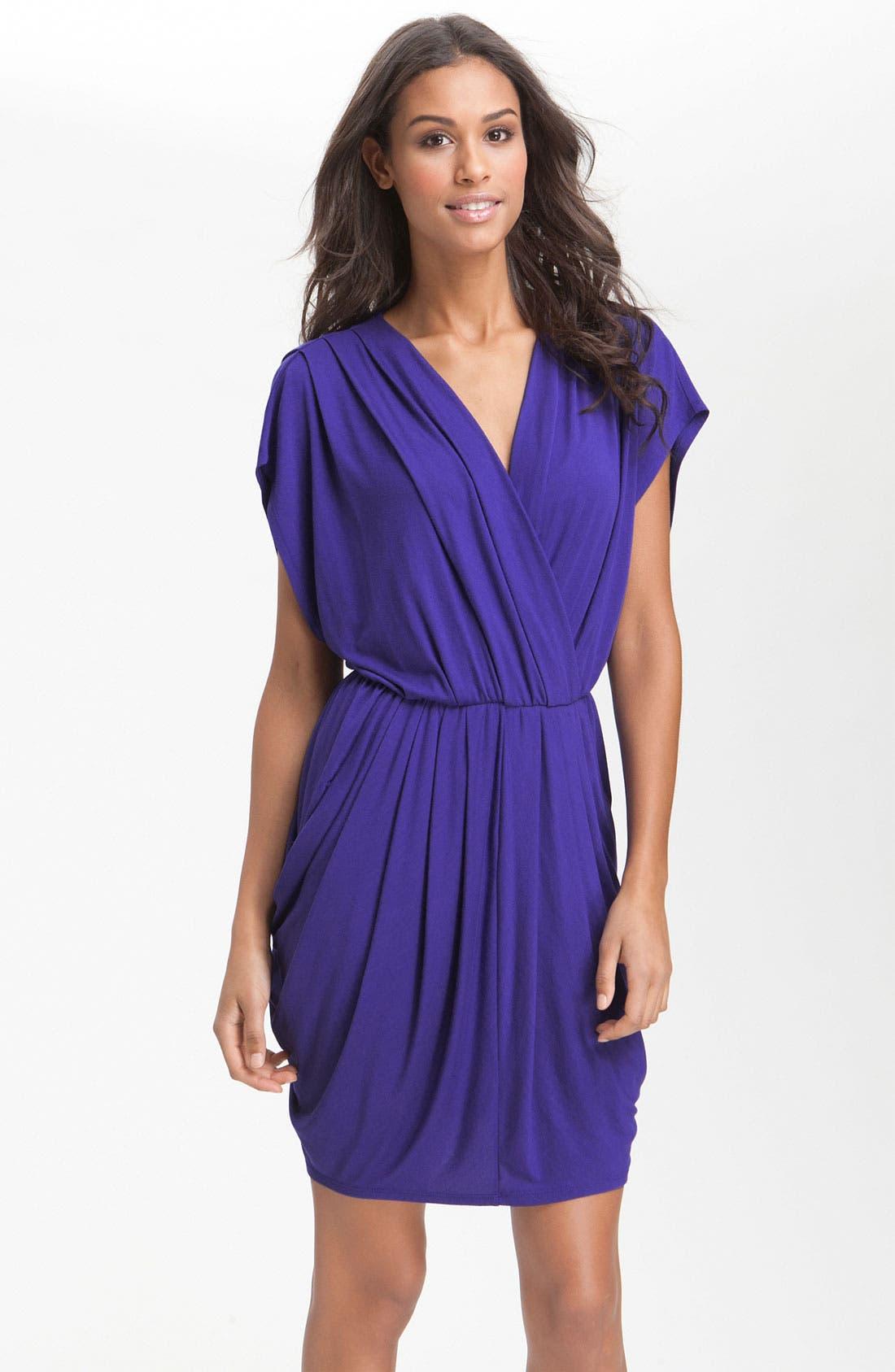 ,                             Faux Wrap Pleated Dress,                             Main thumbnail 10, color,                             401