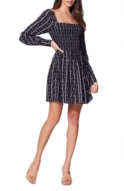Paige Dresses PALMETTO SMOCKED LONG SLEEVE DRESS