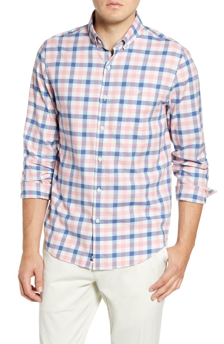 VINEYARD VINES Longshore Slim Fit Check Button-Down Sport Shirt, Main, color, LOBSTER REEF