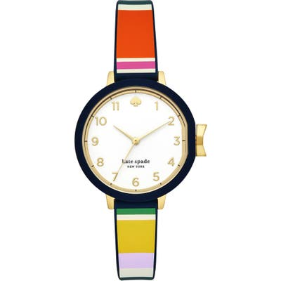Kate Spade New York Park Row Silicone Strap Watch,