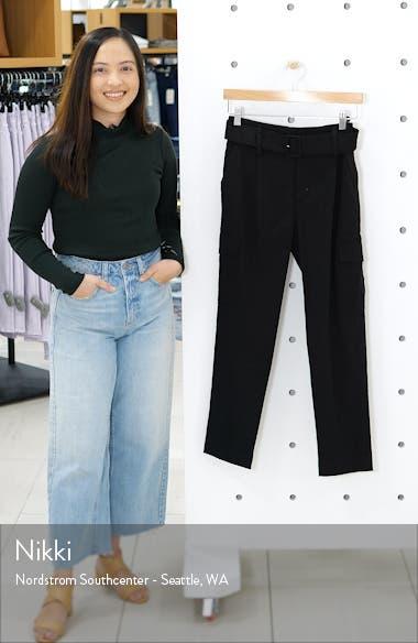 Belted Linen Blend Pants, sales video thumbnail