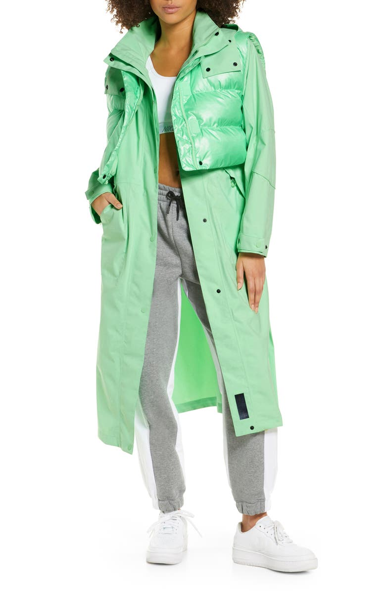 NIKE City Ready Hooded 2-in-1 Jacket, Main, color, APHID GREEN