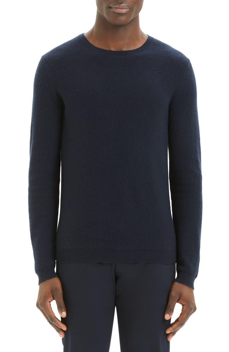 THEORY Medin Crewneck Cashmere Sweater, Main, color, RIVER