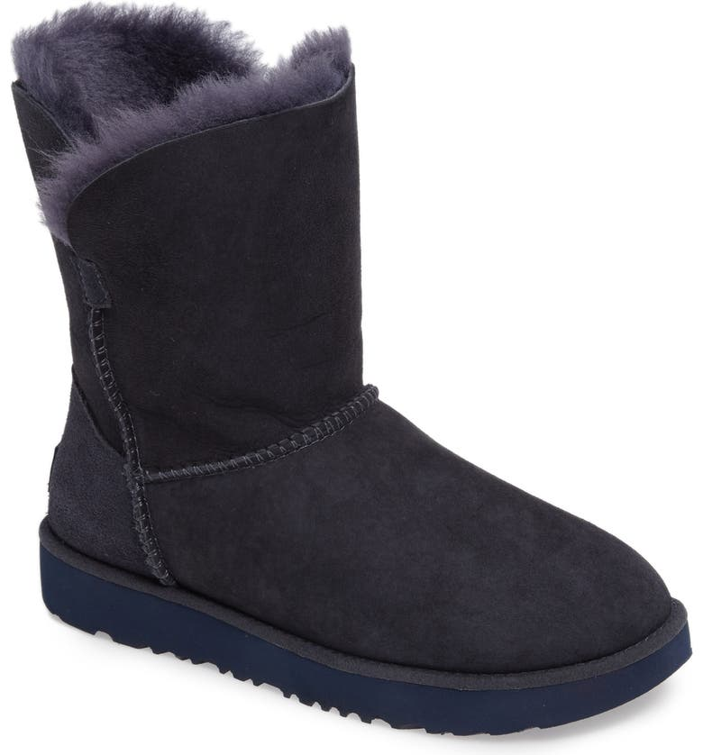 UGG<SUP>®</SUP> Classic Cuff Short Boot, Main, color, IMPERIAL NAVY SUEDE