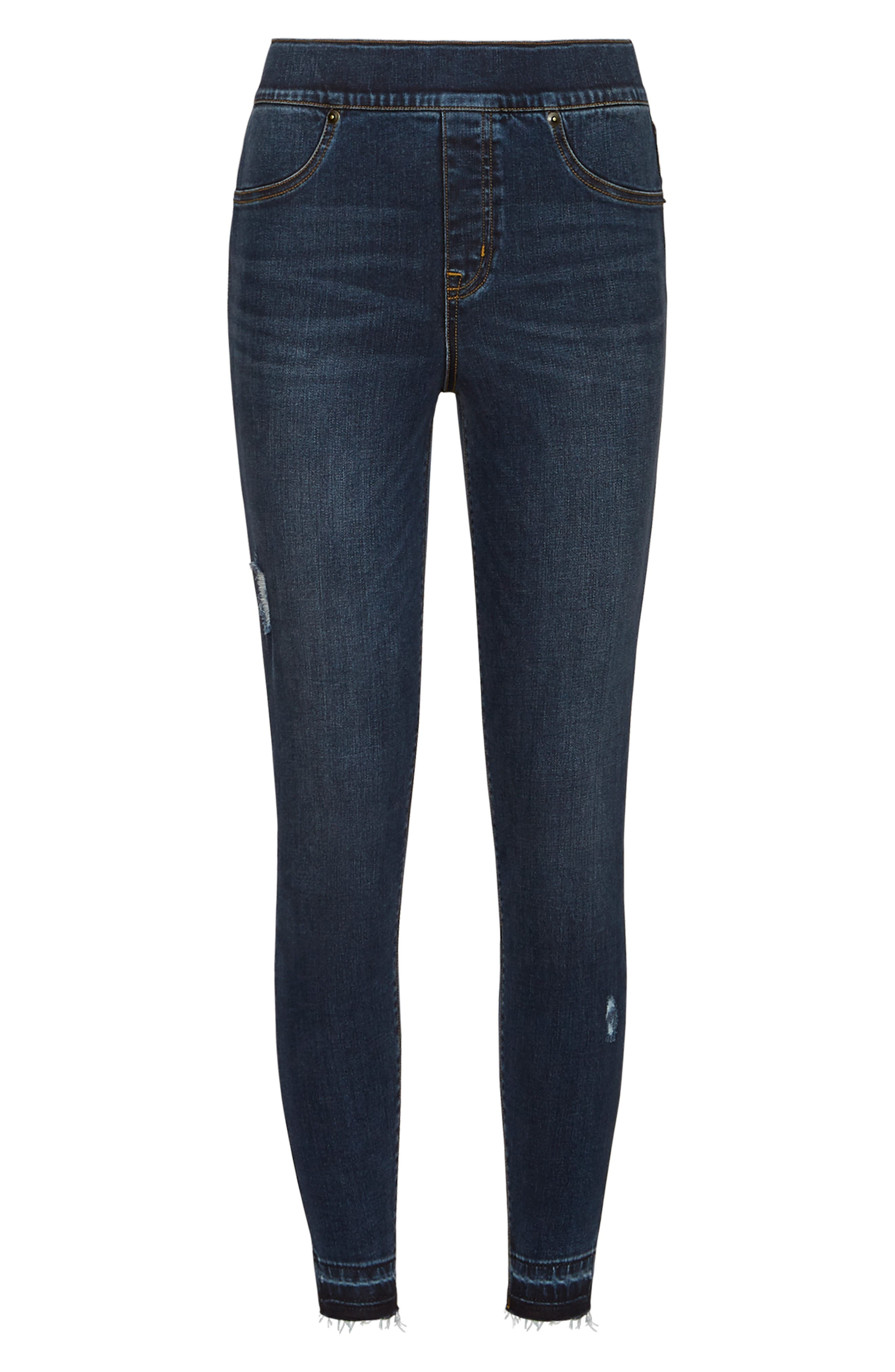 ,                             Distressed Skinny Jeans,                             Alternate thumbnail 7, color,                             MEDIUM WASH