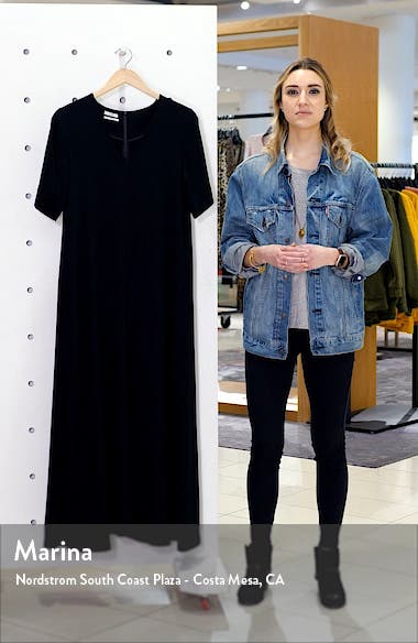 Essentials Crepe Maxi Dress, sales video thumbnail