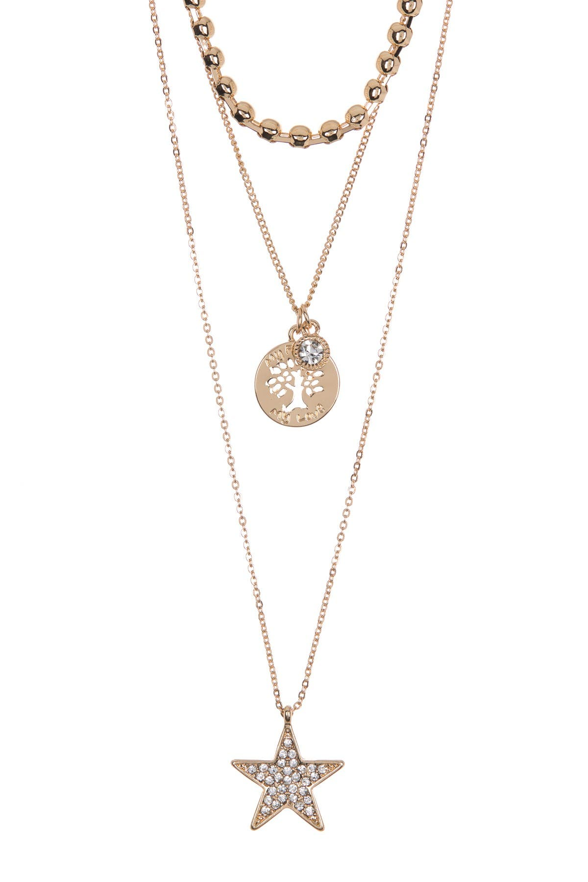 Image of AREA STARS Star & Tree Layered Pendant Necklace Set