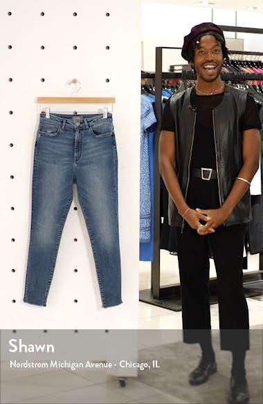 Chrissy High Waist Raw Hem Ankle Skinny Jeans, sales video thumbnail