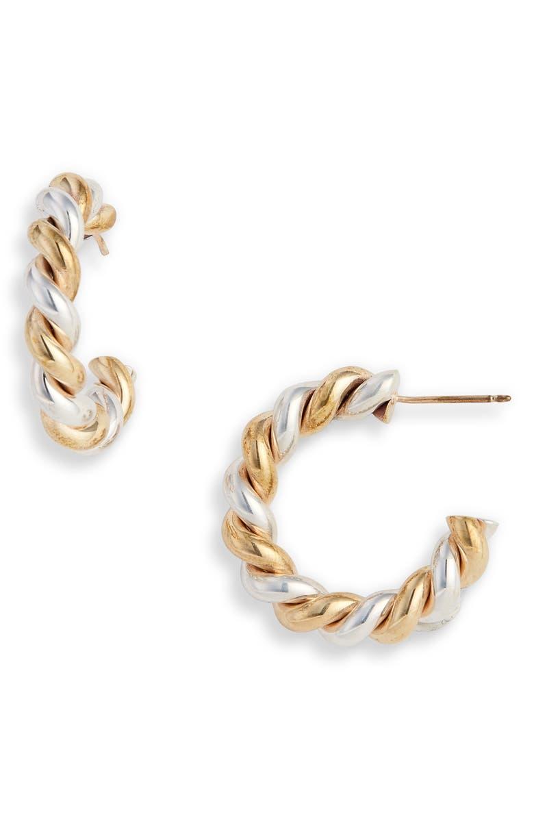 LAURA LOMBARDI Mella Multi Hoop Earrings, Main, color, SILVER