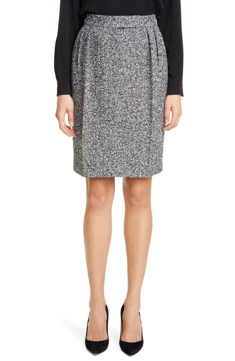 MAX MARA Rosita Tweed Skirt, Main, color, 001
