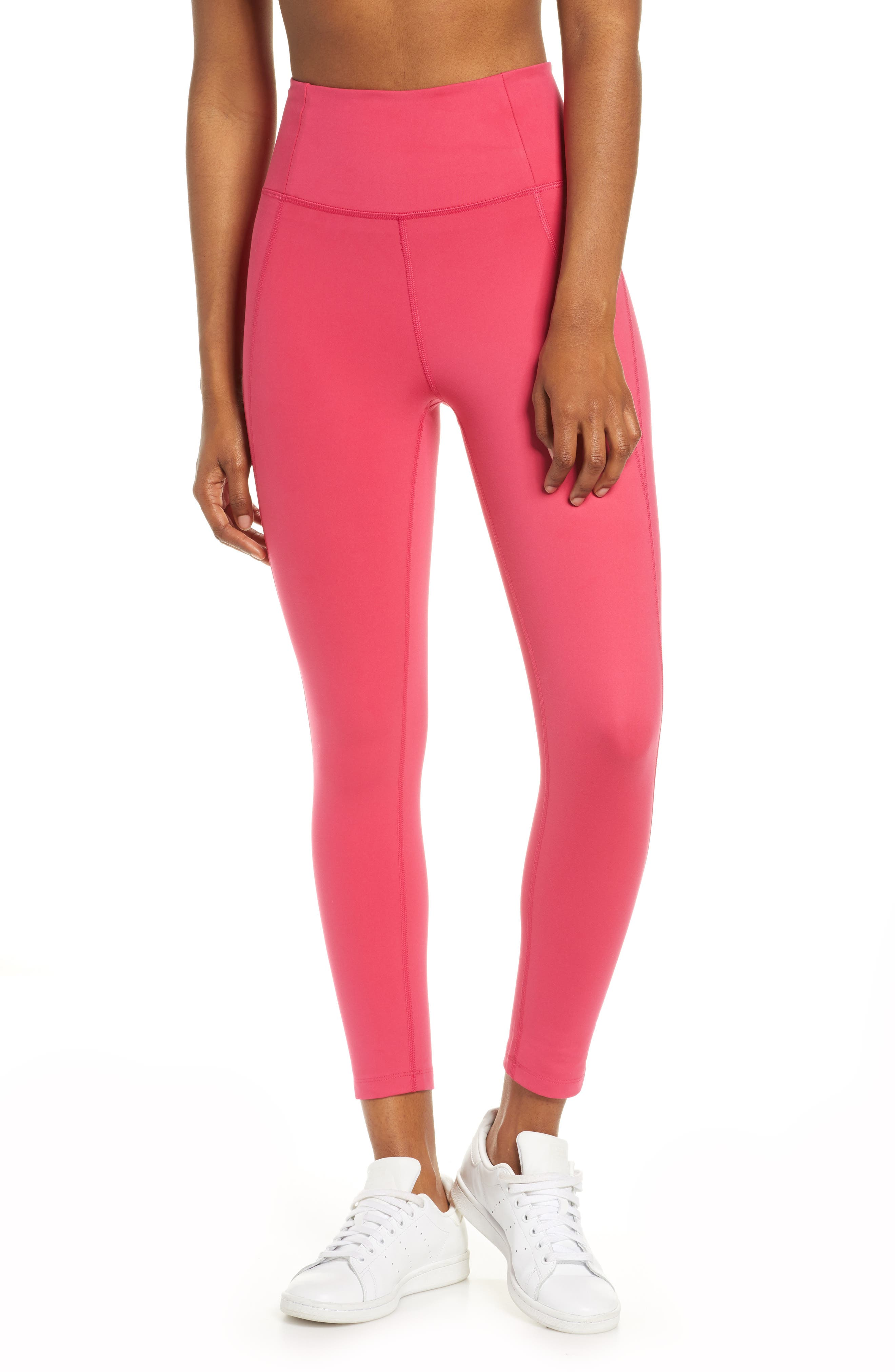 Women's Girlfriend Collective High Waist 7/8 Leggings,  Large - Pink