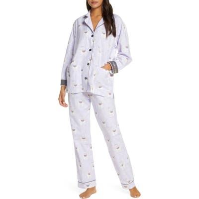 Pj Salvage Print Flannel Pajamas, Blue