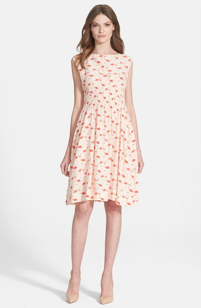 KATE SPADE NEW YORK 'flamingo blaire' dress, Main, color, 160