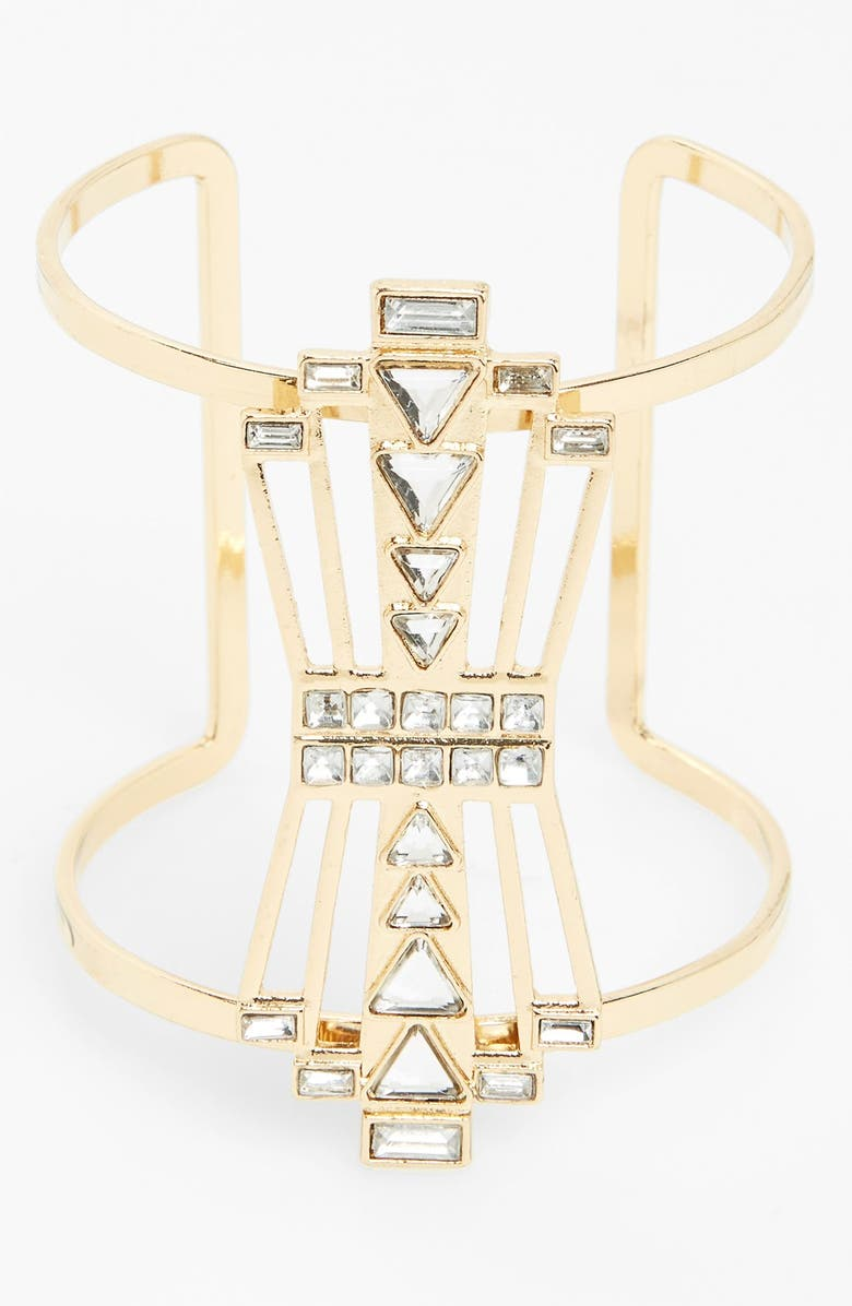 SPRING STREET 'Gatsby' Deco Statement Cuff, Main, color, 710