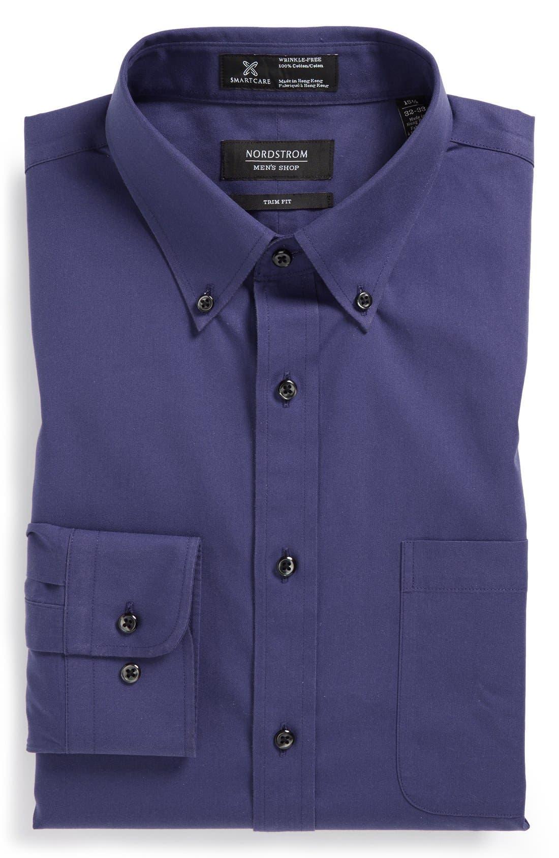 ,                             Smartcare<sup>™</sup> Trim Fit Solid Dress Shirt,                             Main thumbnail 19, color,                             411