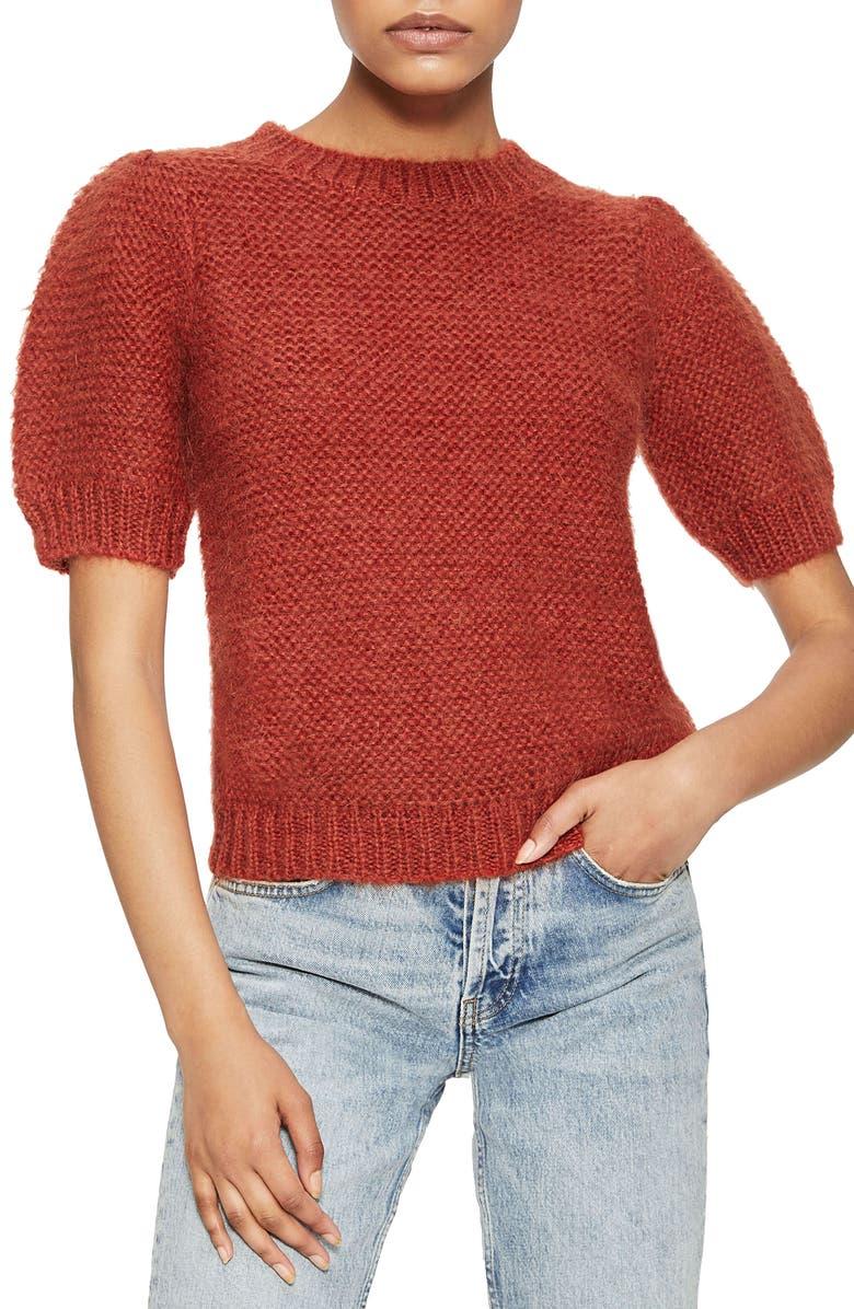 ANINE BING Nicolette Sweater, Main, color, RUST