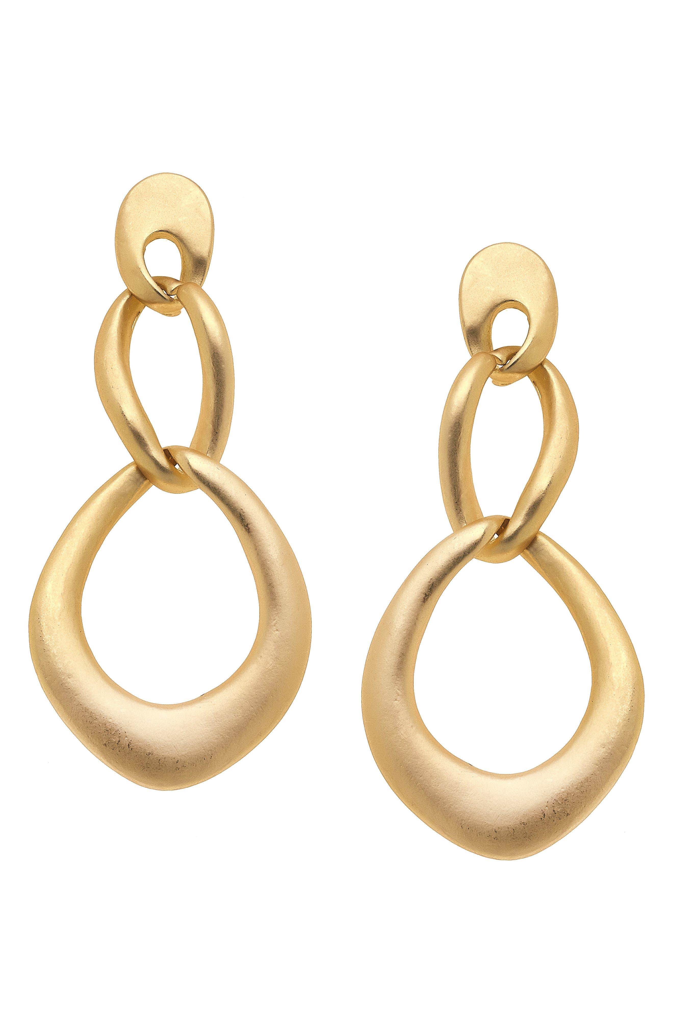 Celine Double Hoop Drop Earrings