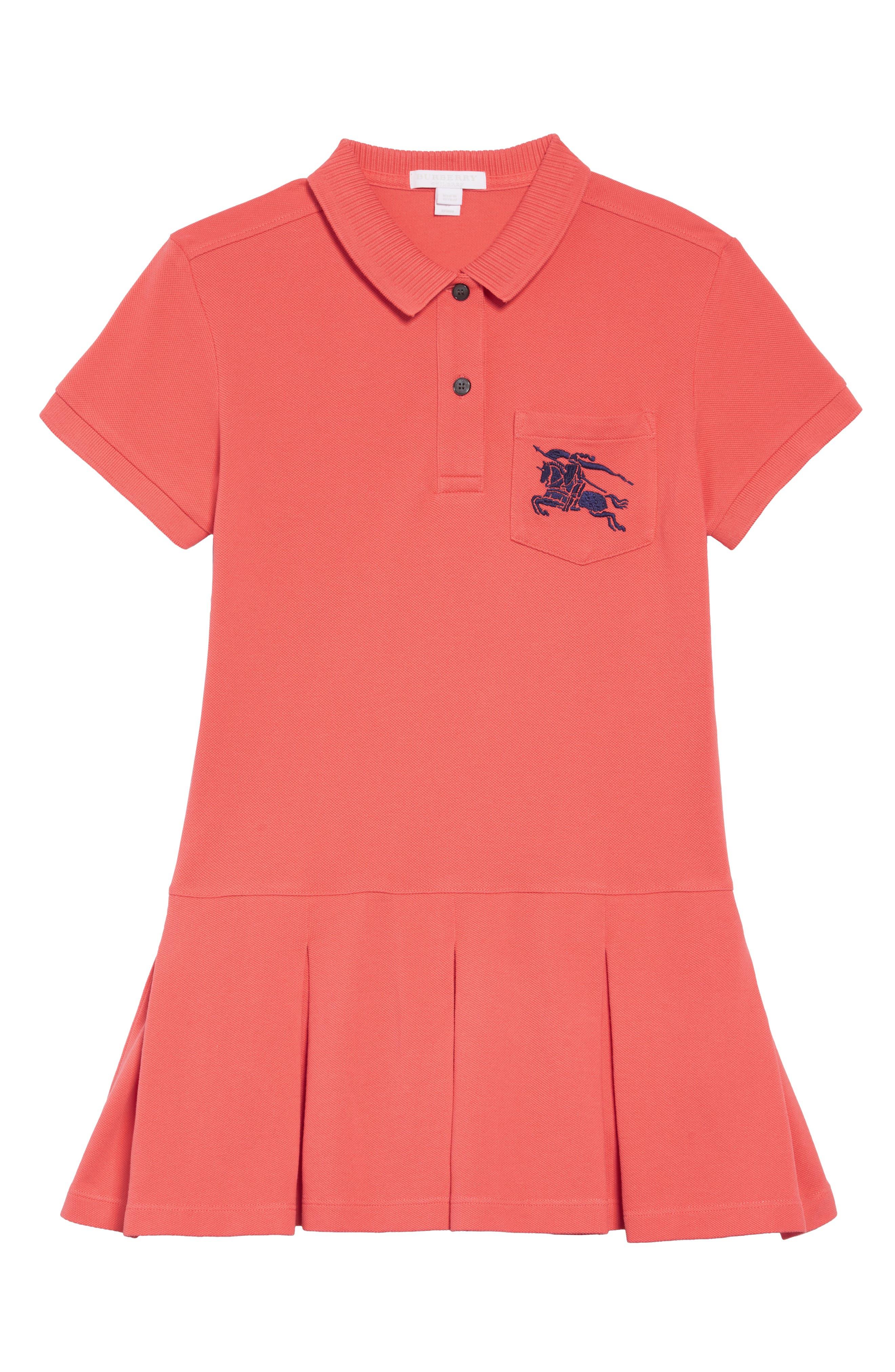 Image of Burberry Mini Demelza Polo Dress