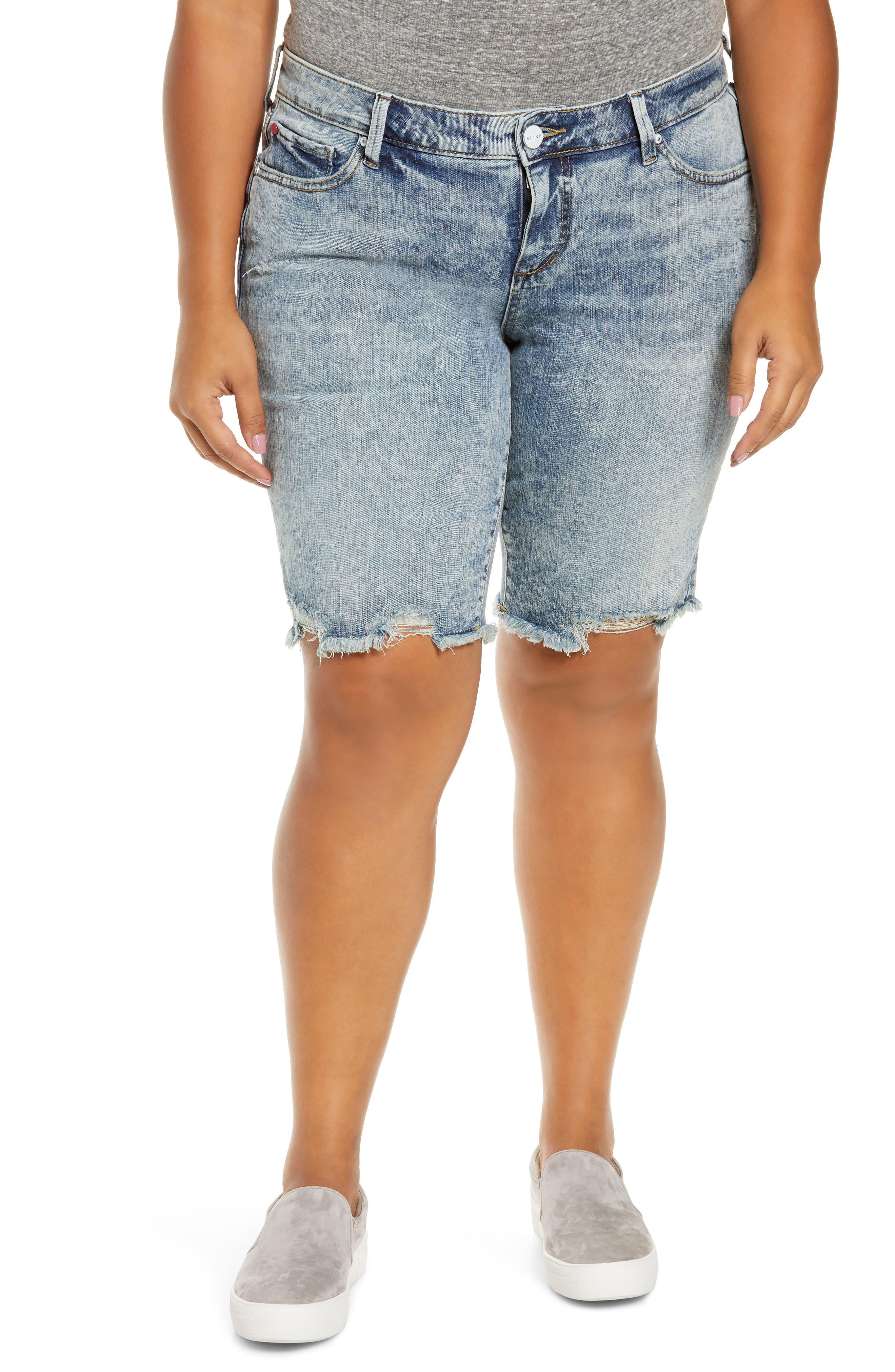 Plus Women's Slink Jeans Cutoff Bermuda Shorts