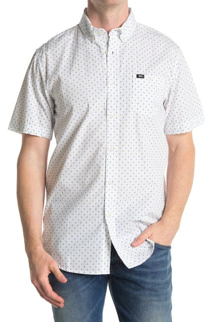 Image of Obey Reggie Woven Short Sleeve Slim Fit Shirt