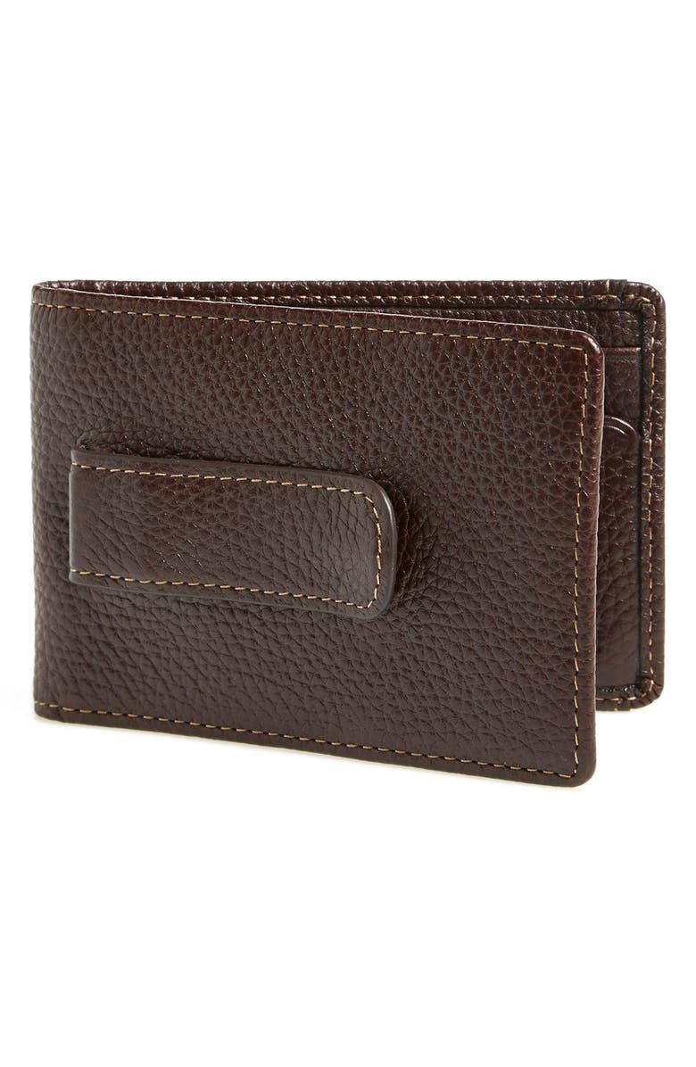 BOCONI 'Tyler' Money Clip Wallet, Main, color, COFFEE