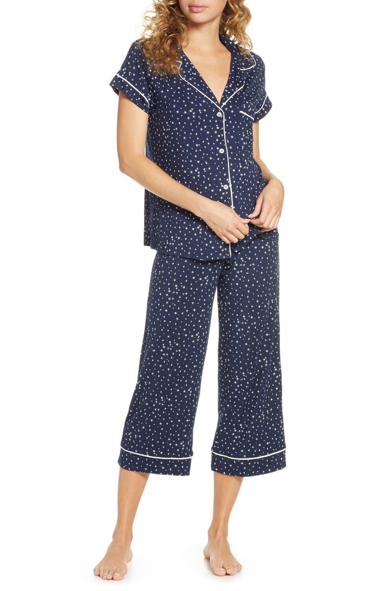 EBERJEY Sleep Chic Crop Pajamas, Main, color, ES/ IV