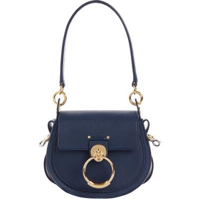 Chloe Medium Tess Lambskin Leather Shoulder Bag - Blue