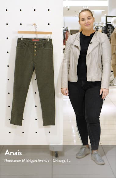Zadie High Waist Corduroy Straight Leg Pants, sales video thumbnail