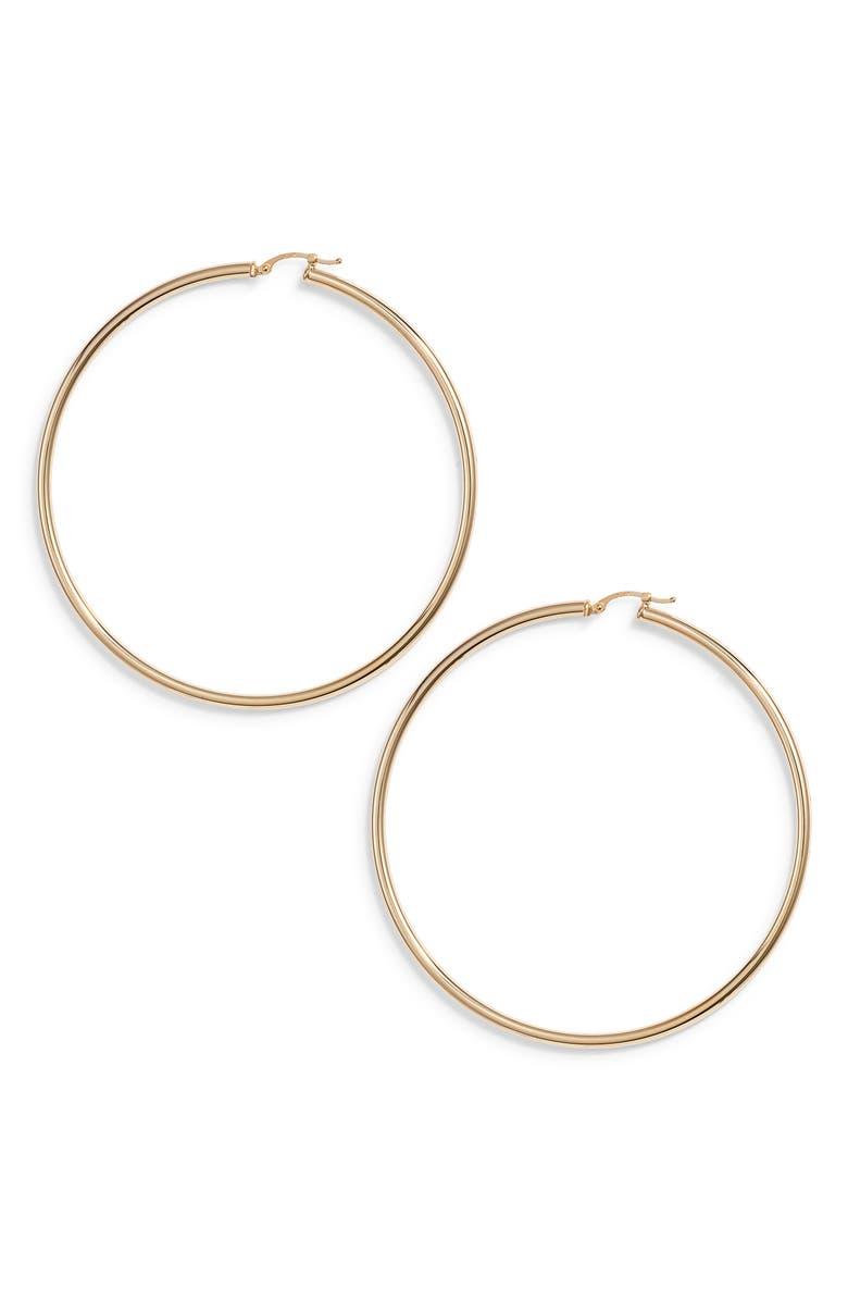 JANE BASCH DESIGNS Giant Hoop Earrings, Main, color, 14K GOLD