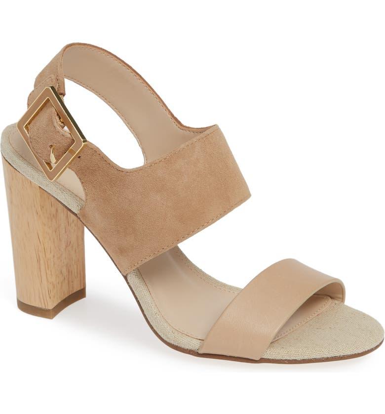 PELLE MODA Bristol Sandal, Main, color, NUDE SUEDE