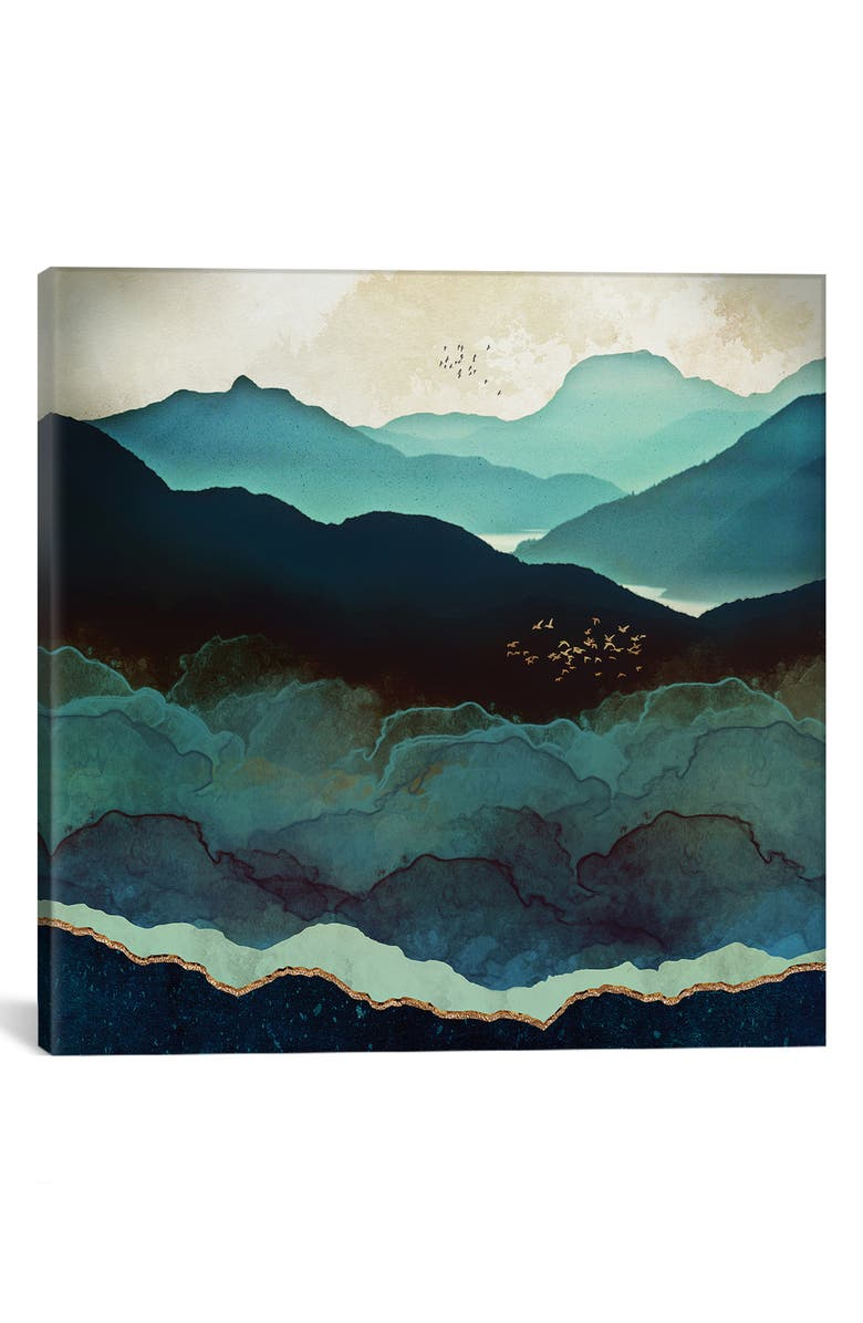 ICANVAS Indigo Mountains by SpaceFrog Designs Giclée Print Canvas Art, Main, color, BLUE/ GREEN