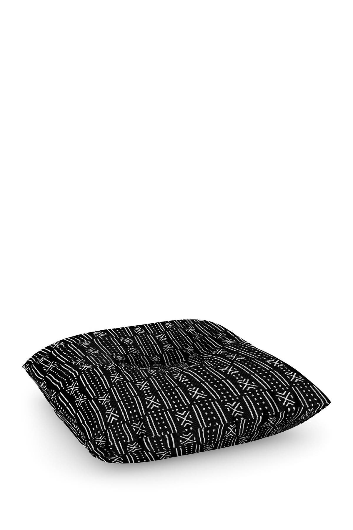 Image of Deny Designs Holli Zollinger Mudcloth Black Square Floor Pillow