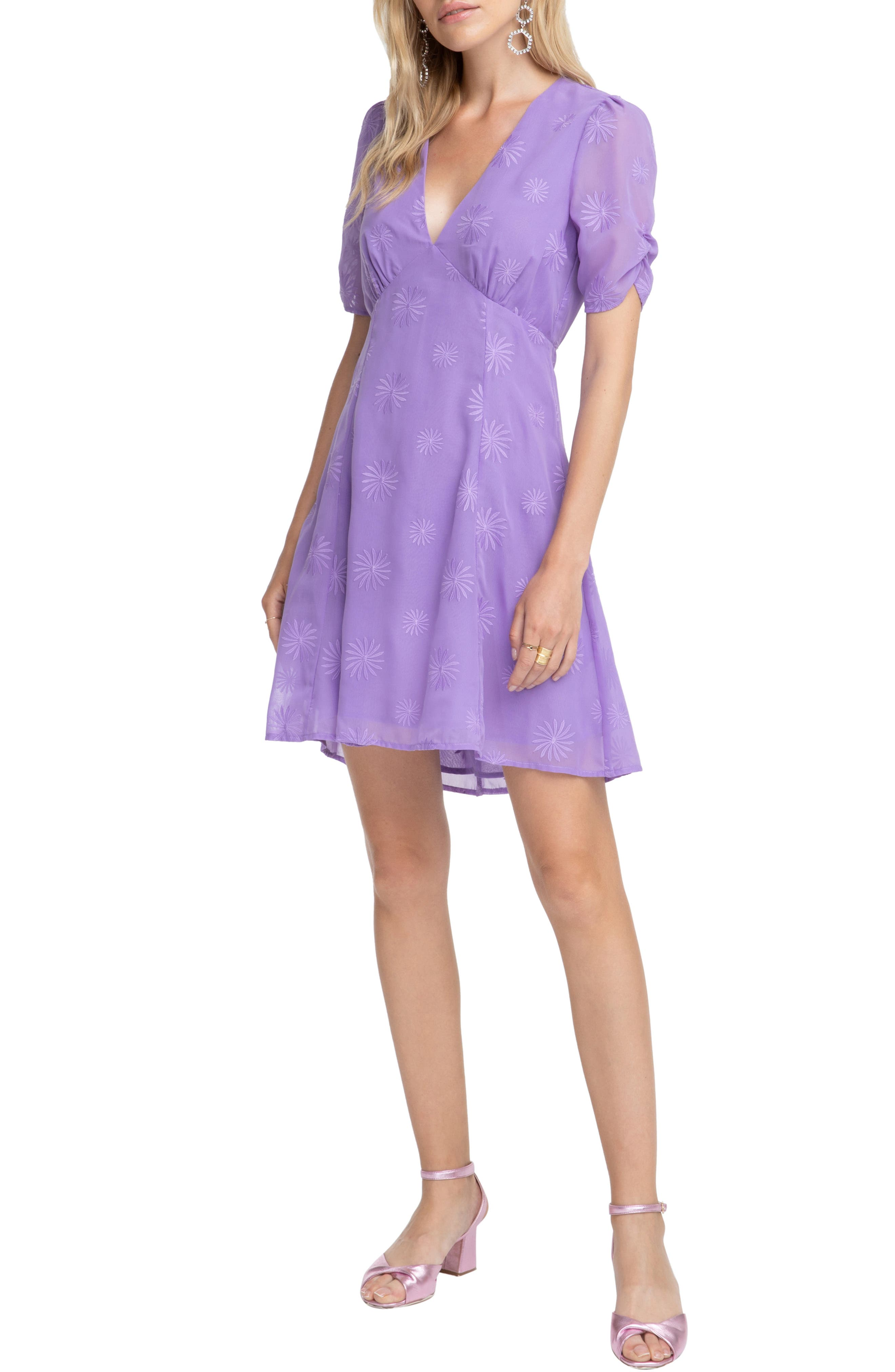 Astr The Label Kyle Fit & Flare Dress, Purple