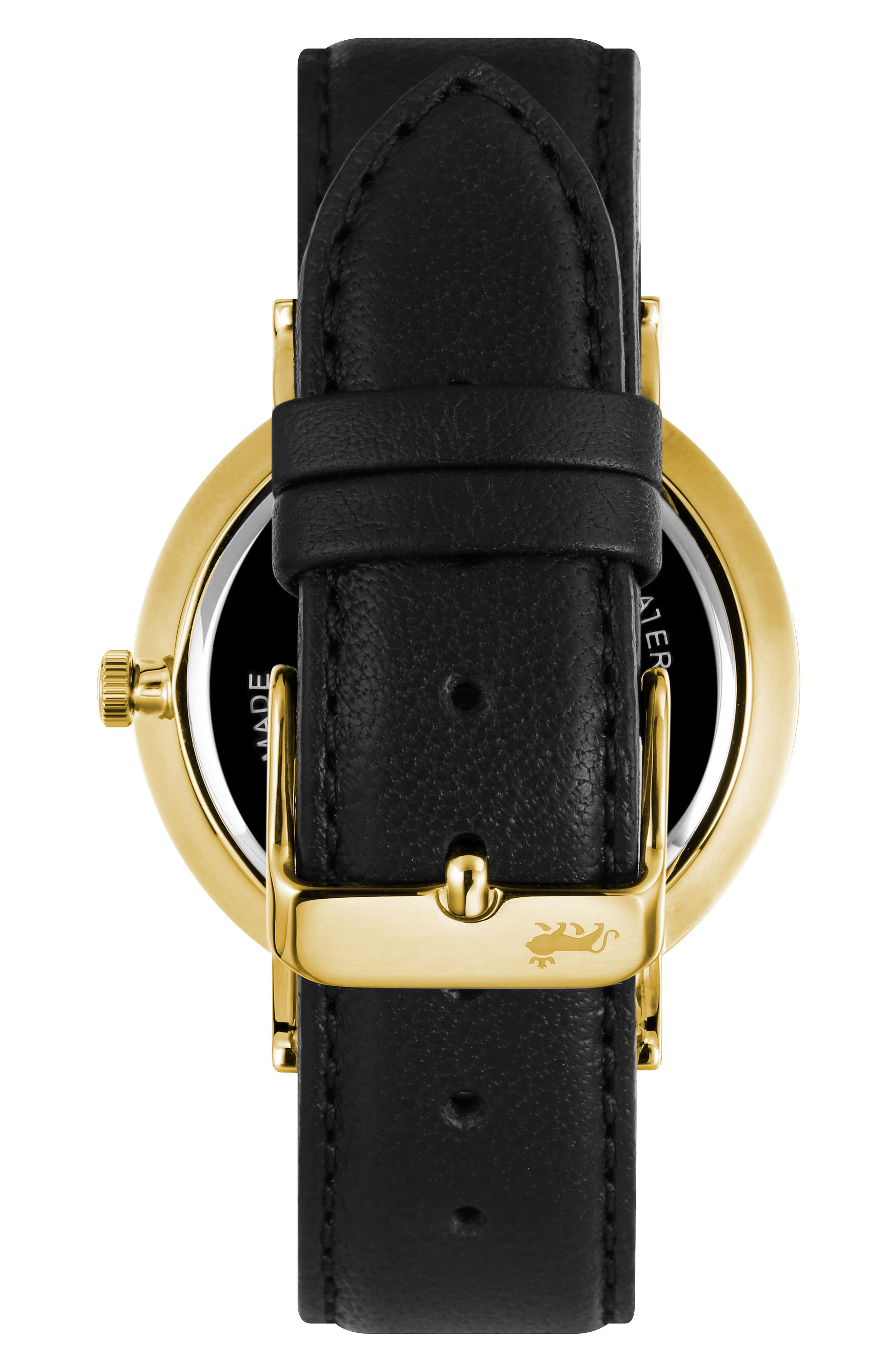 ,                             Lugano Leather Strap Watch, 38mm,                             Alternate thumbnail 2, color,                             001
