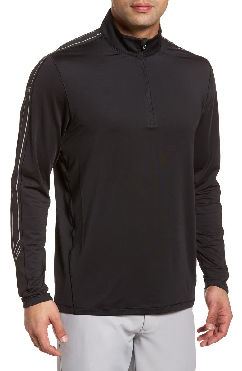 CUTTER & BUCK Pennant Classic Fit Half Zip Pullover, Main, color, 001