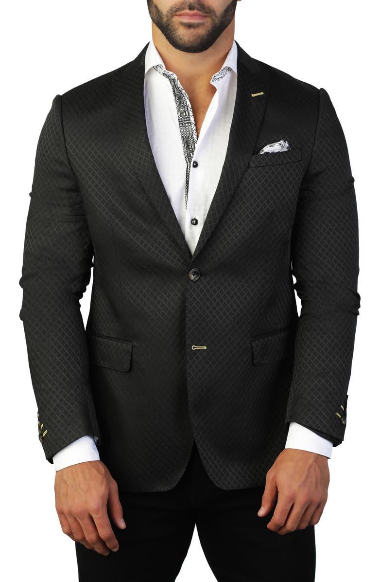 MACEOO Descartes Regular Fit Diamond Jacquard Sport Coat, Main, color, 420