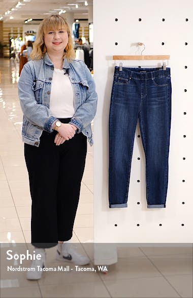 Chloe Pull-On Ankle Skinny Jeans, sales video thumbnail