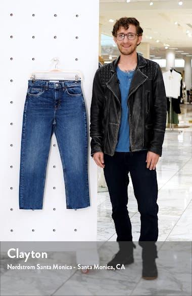 Straight Leg Raw Hem Jeans, sales video thumbnail