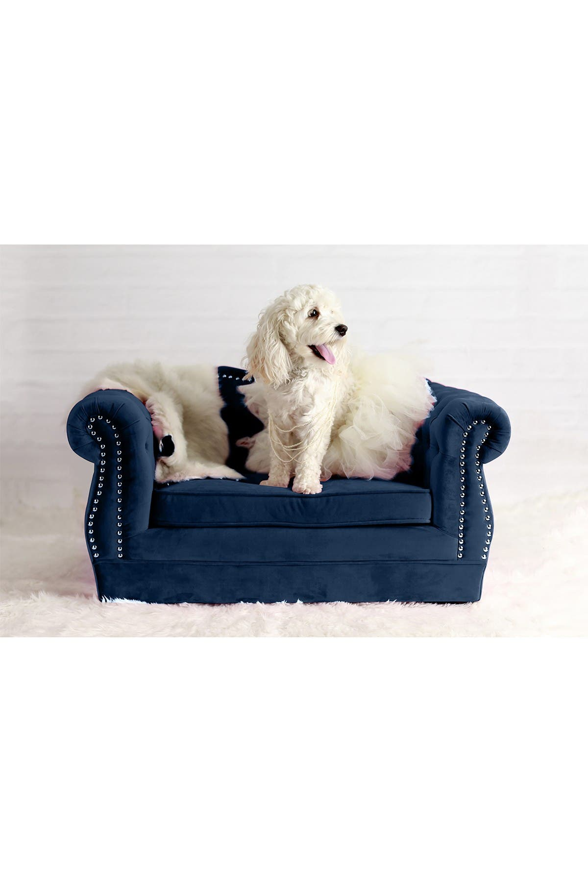Image of TOV Furniture Yorkshire Navy Pet Bed