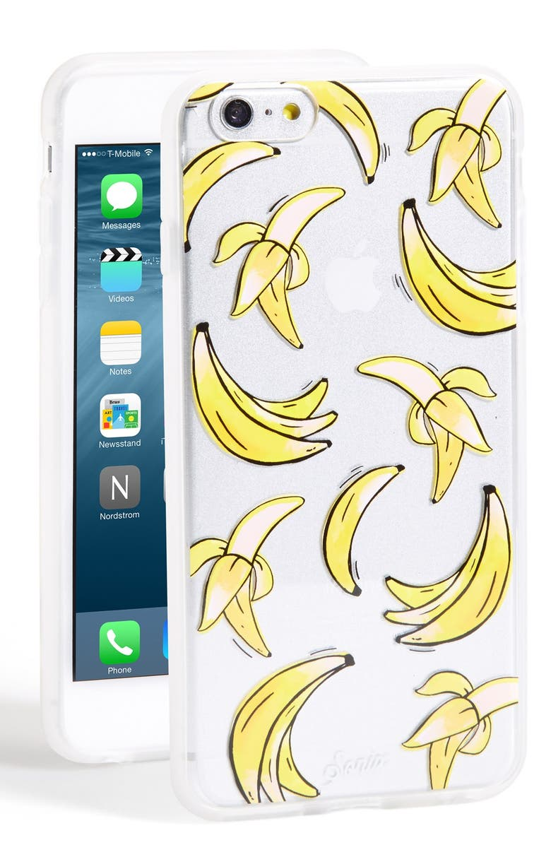 SONIX 'Clear That's Bananas' iPhone 6 Plus Case, Main, color, 700