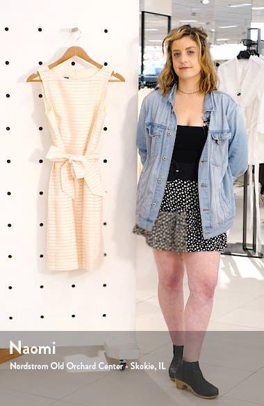 Shadow Stripe Fit & Flare Dress, sales video thumbnail