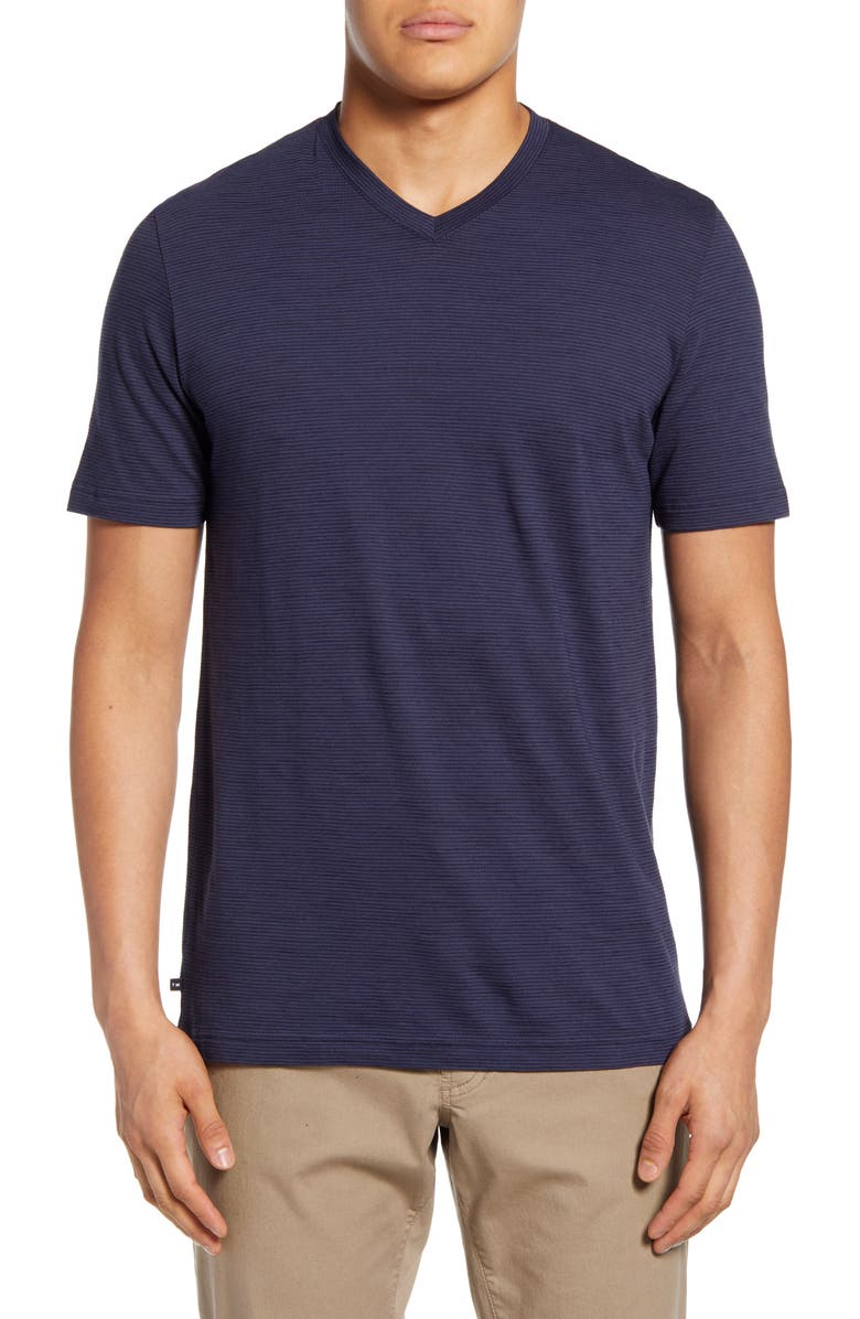 TRAVISMATHEW Trumbull V-Neck T-Shirt, Main, color, HEATHER BLUE NIGHTS