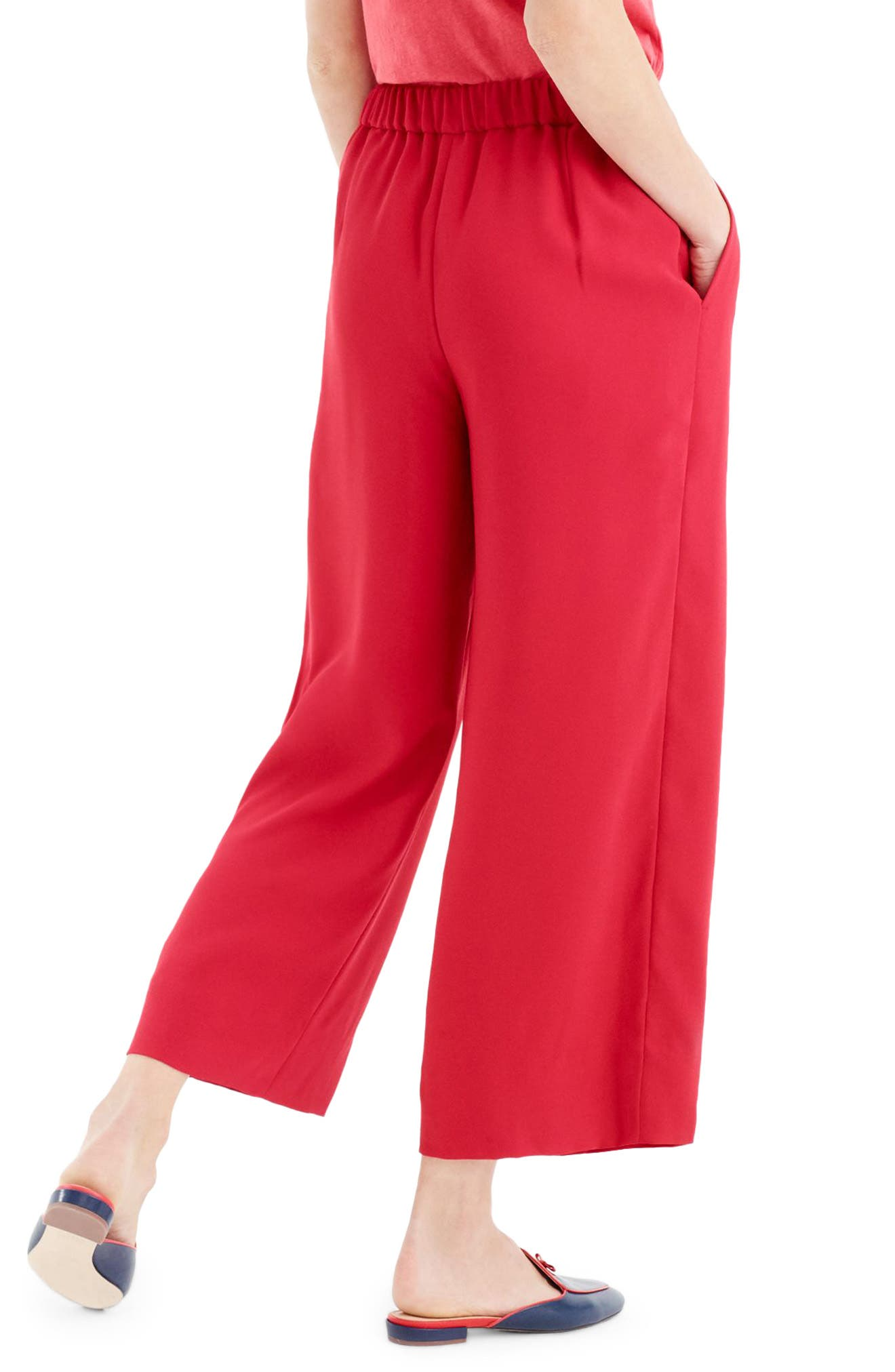,                             Wide Leg Crop Pants,                             Alternate thumbnail 12, color,                             600
