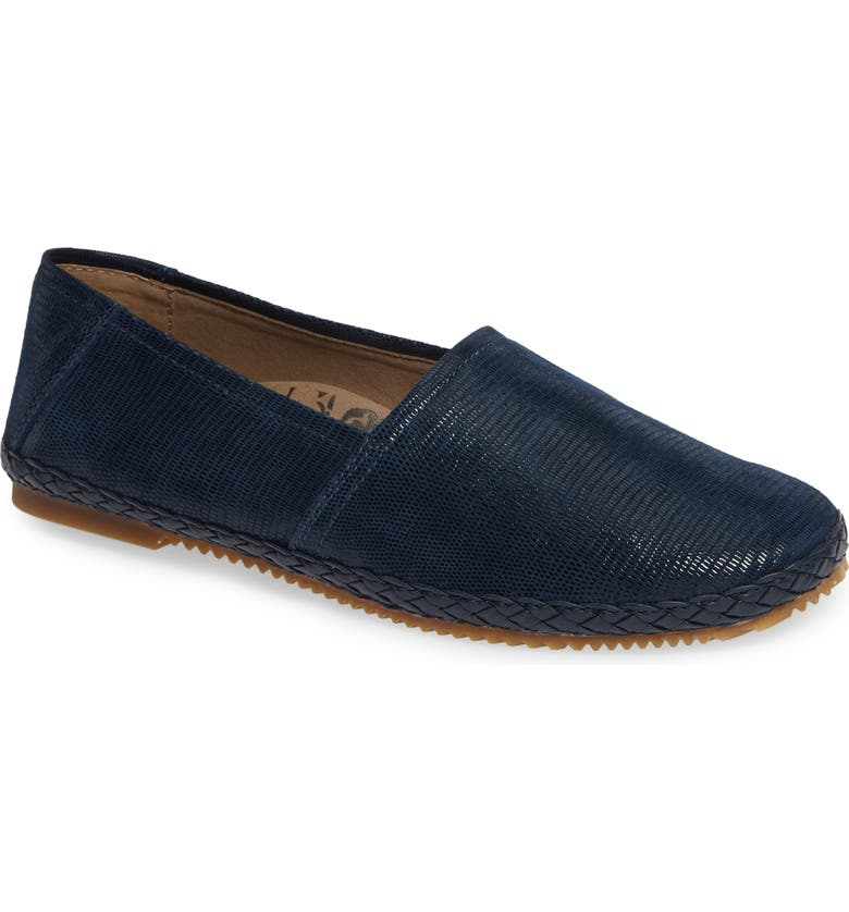 AETREX Kylie Flat, Main, color, BLUE SNAKE LEATHER