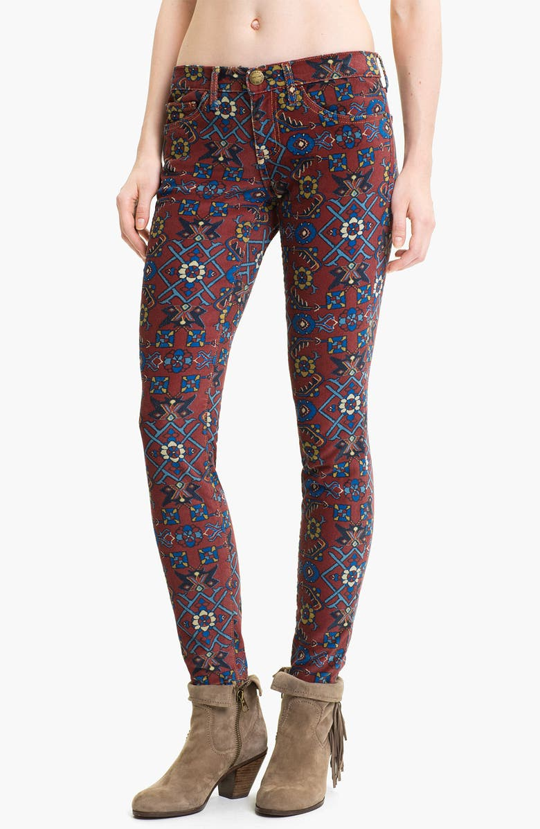 CURRENT/ELLIOTT 'The Ankle' Print Crop Skinny Jeans, Main, color, 930